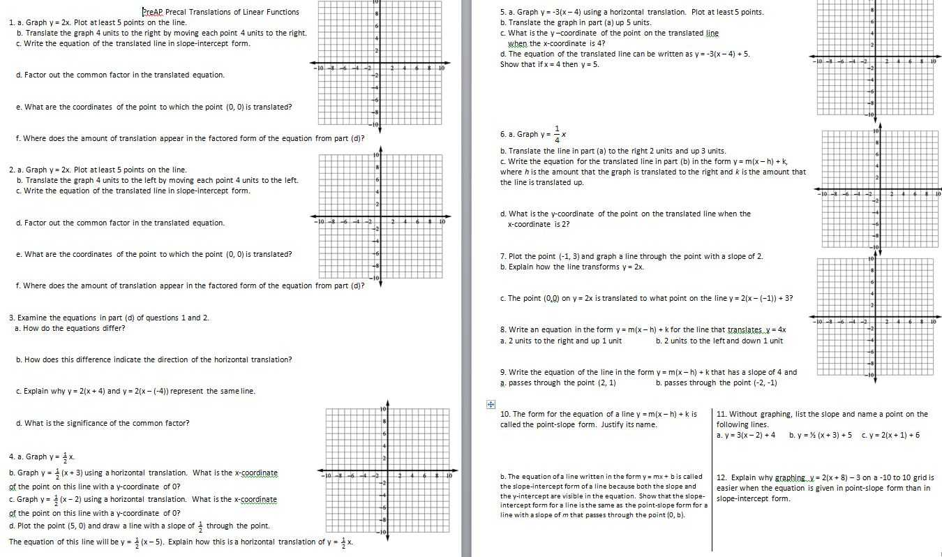 Algebra 1 Slope Worksheet