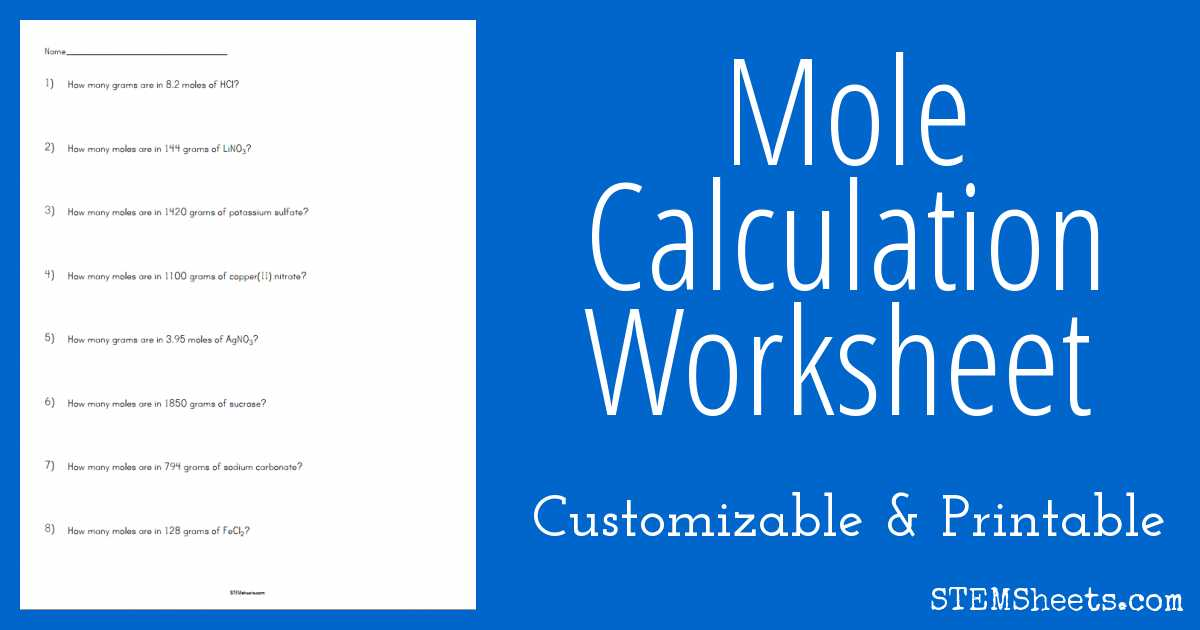 Balancing Equations Worksheet Answers Chemistry and Mole Calculation Worksheet