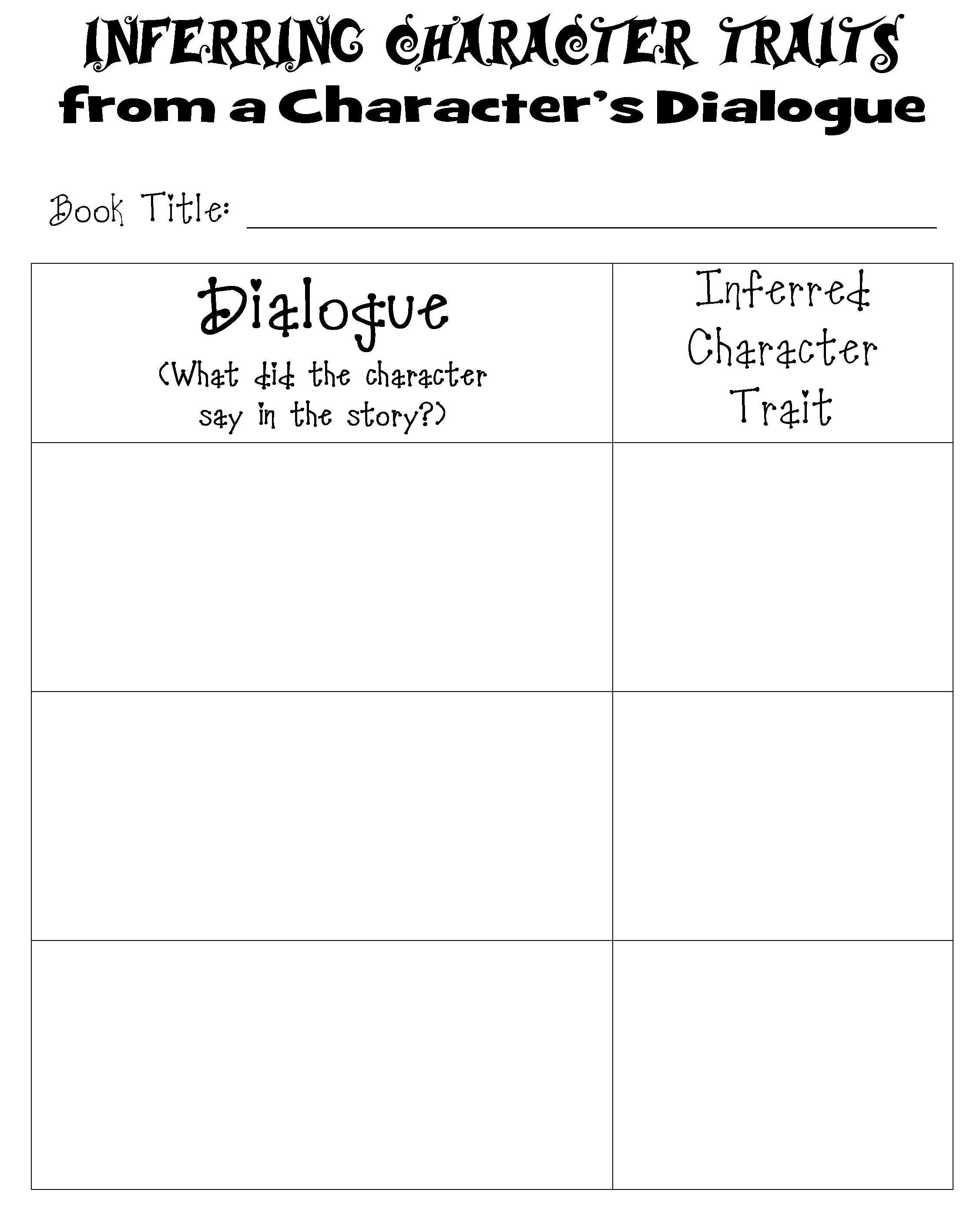 Character Traits Worksheet 3rd Grade and Character Traits Worksheet Pdf Worksheet for Kids Maths
