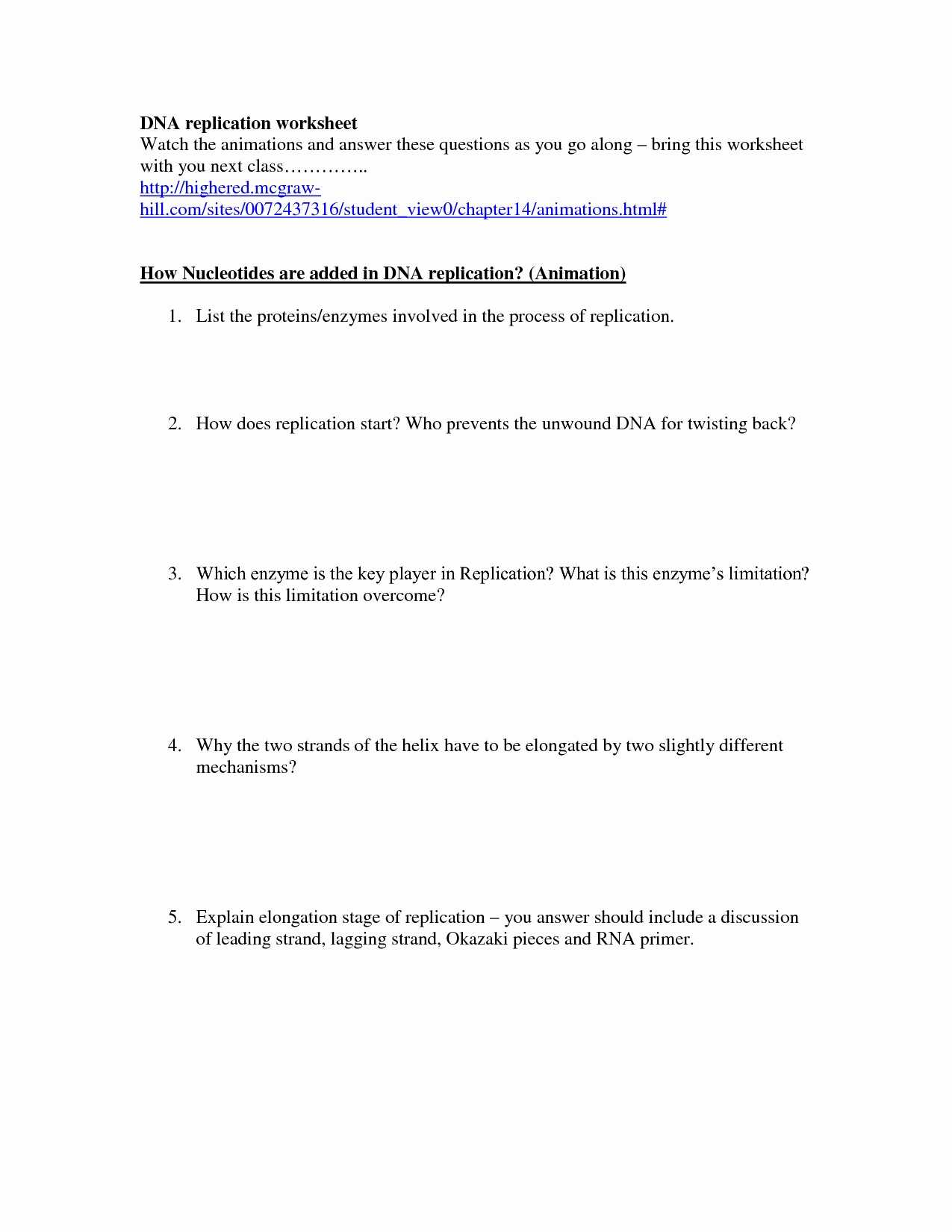 Dna Structure Worksheet Answer Key Along With Dna Coloring