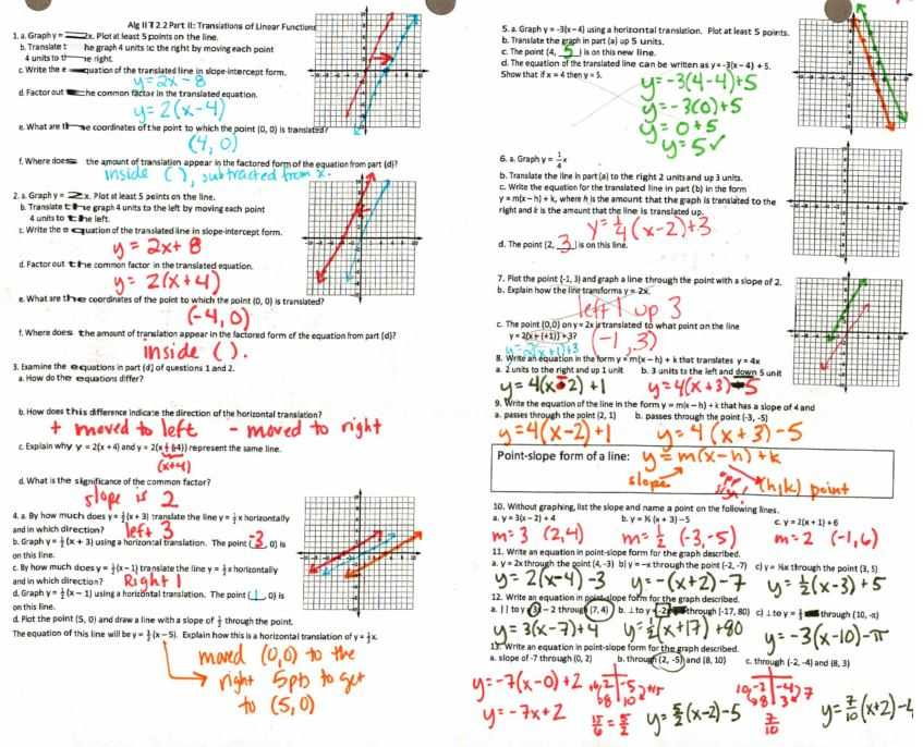 Equations Of Parallel and Perpendicular Lines Worksheet with Answers Along with Transformations – Insert Clever Math Pun Here