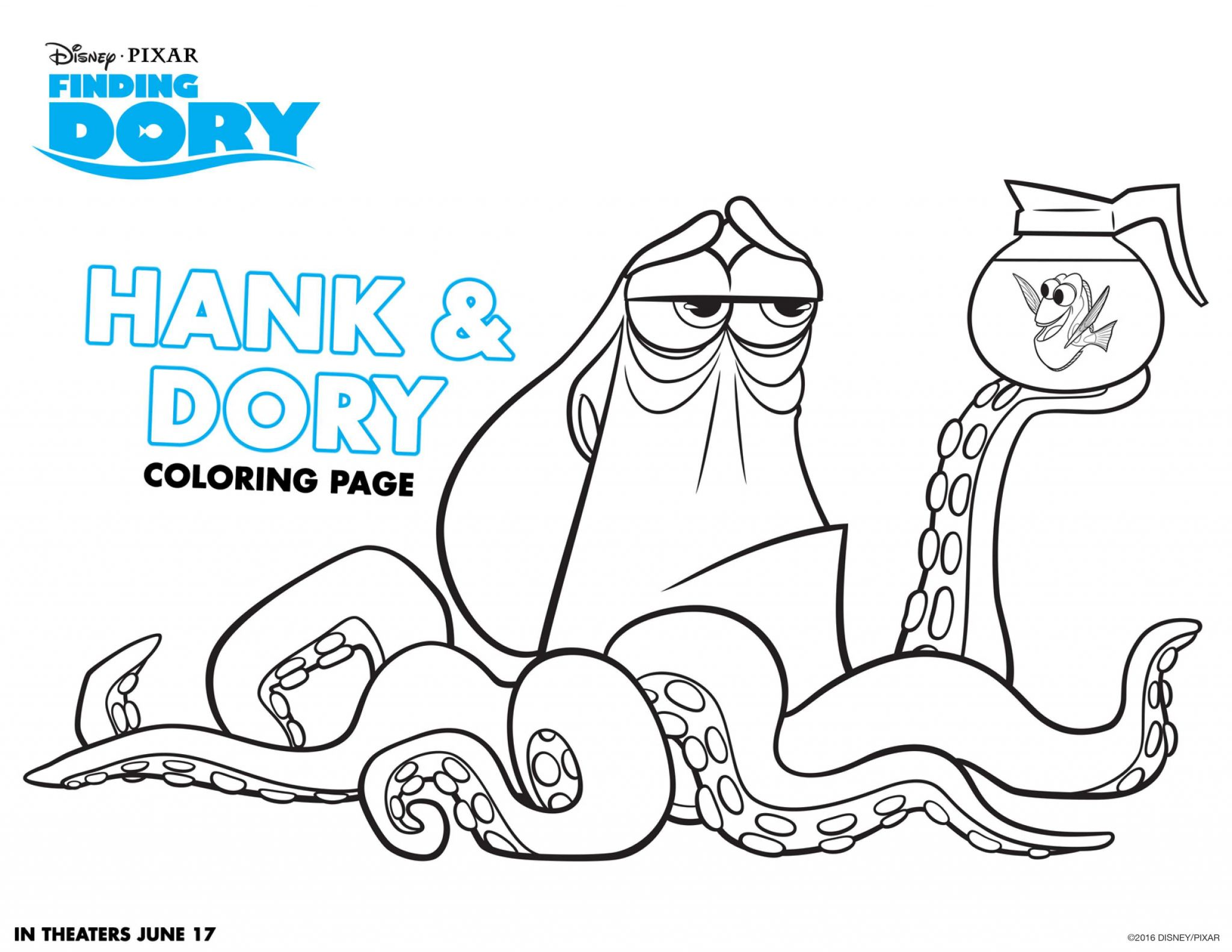 Finding Nemo Worksheet Also Finding Dory Coloring Sheets Dory Party by Debby Smith