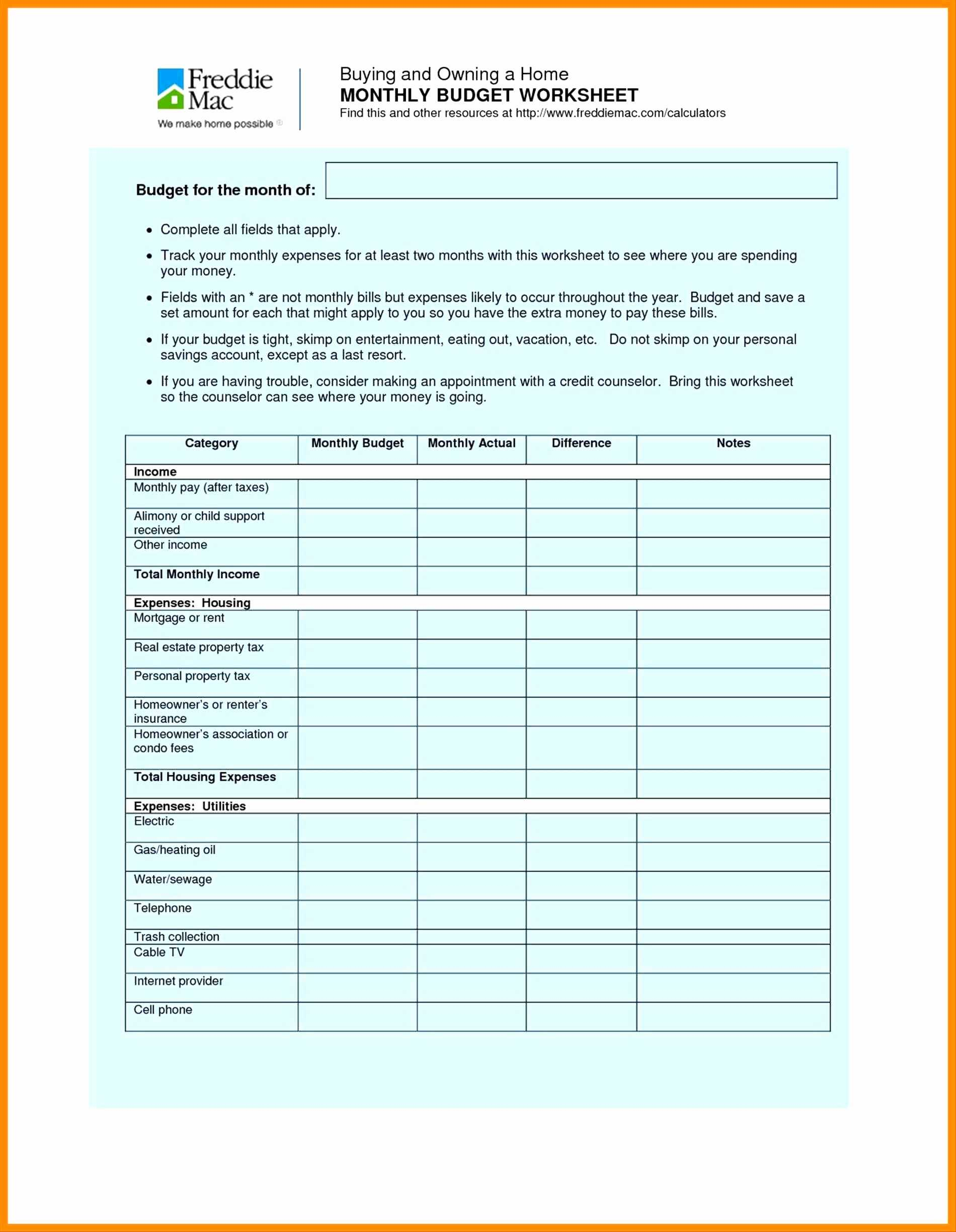 Household Budget Worksheet Excel with Printable Wedding Bud Spreadsheet Awesome 50 Fresh Printable