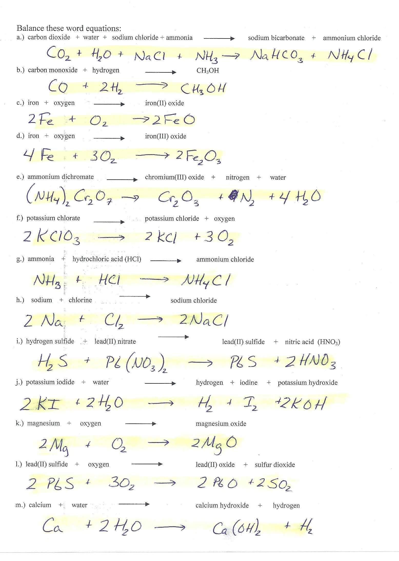 Ionic Compounds Worksheet Answers As Well As Writing And