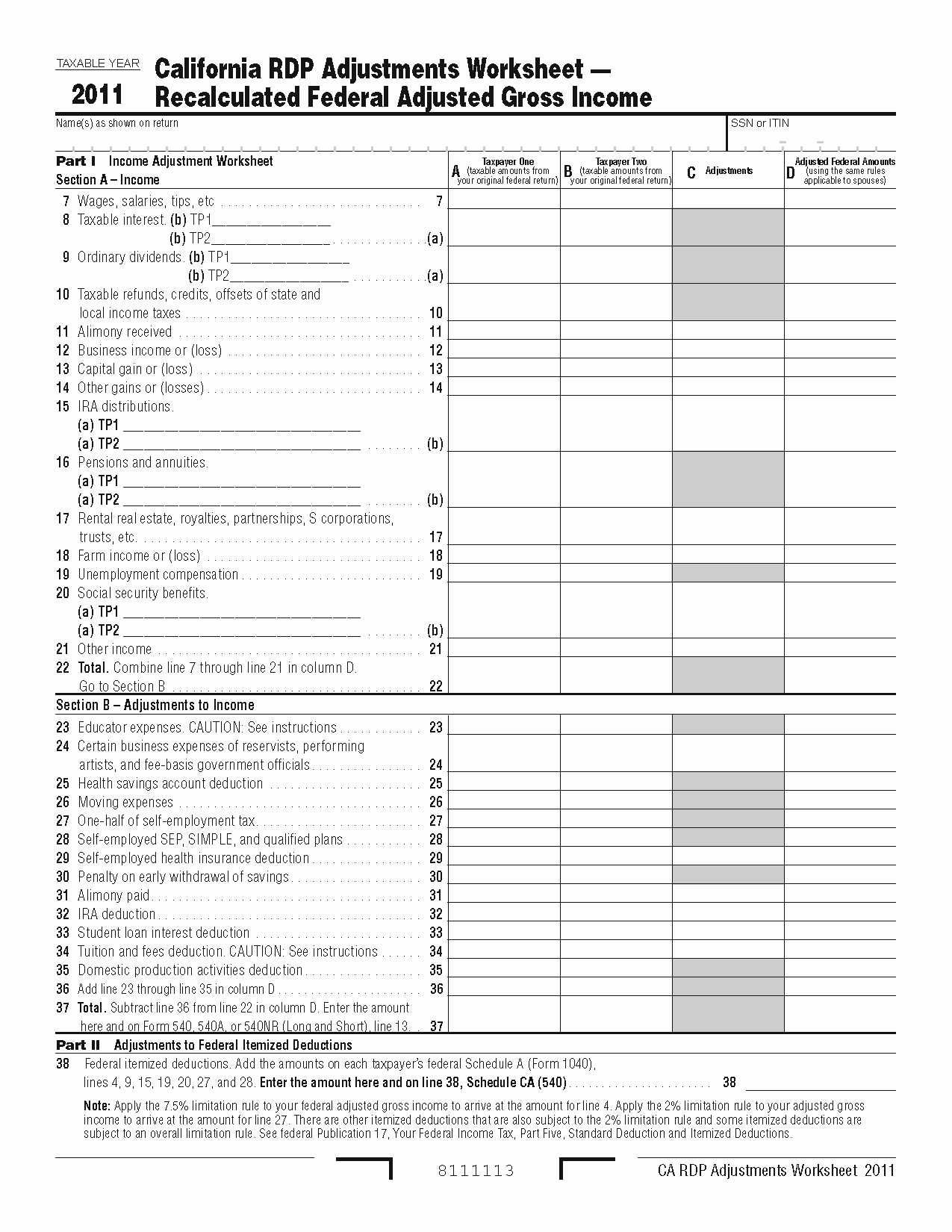 Itemized Deductions Worksheet Also Federal Itemized Deduction Worksheet Kidz Activities