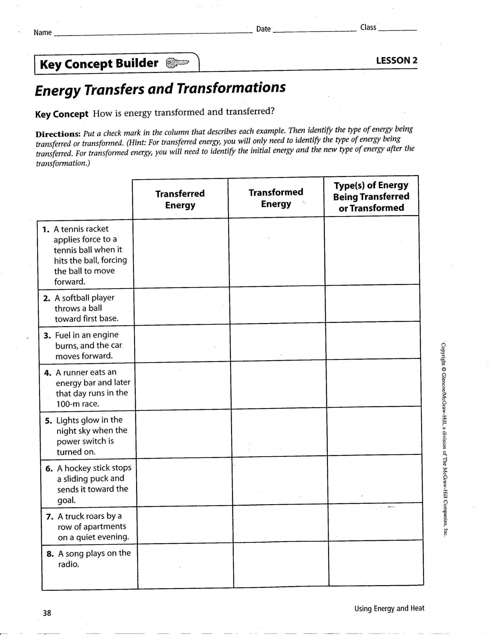 Kinetic and Potential Energy Worksheet Pdf with Worksheet Energy Transformations Worksheet Ewinetaste Worksheet