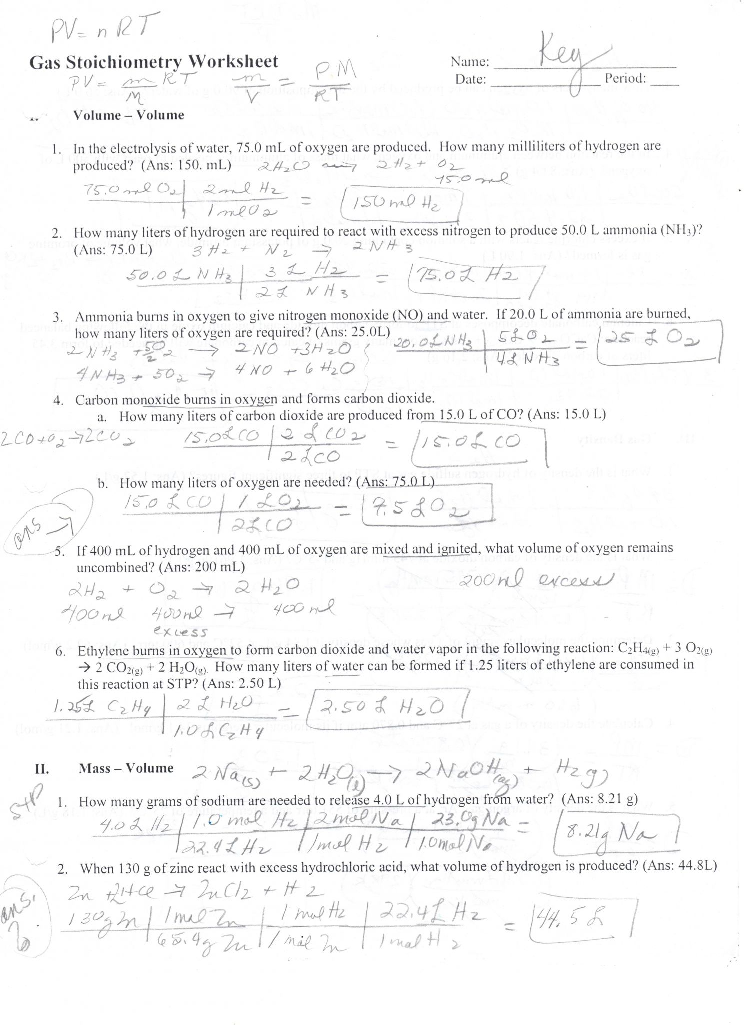 Limiting Reagent Worksheet 2 or Percent Yield Worksheet Answer Key the Best Worksheets Image