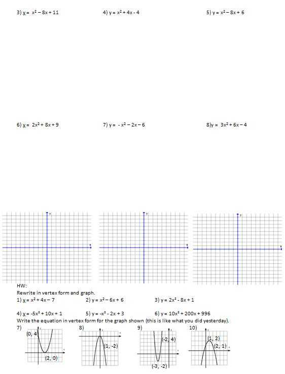 Math Worksheet Generator Free with Like A Parabola… – Insert Clever Math Pun Here