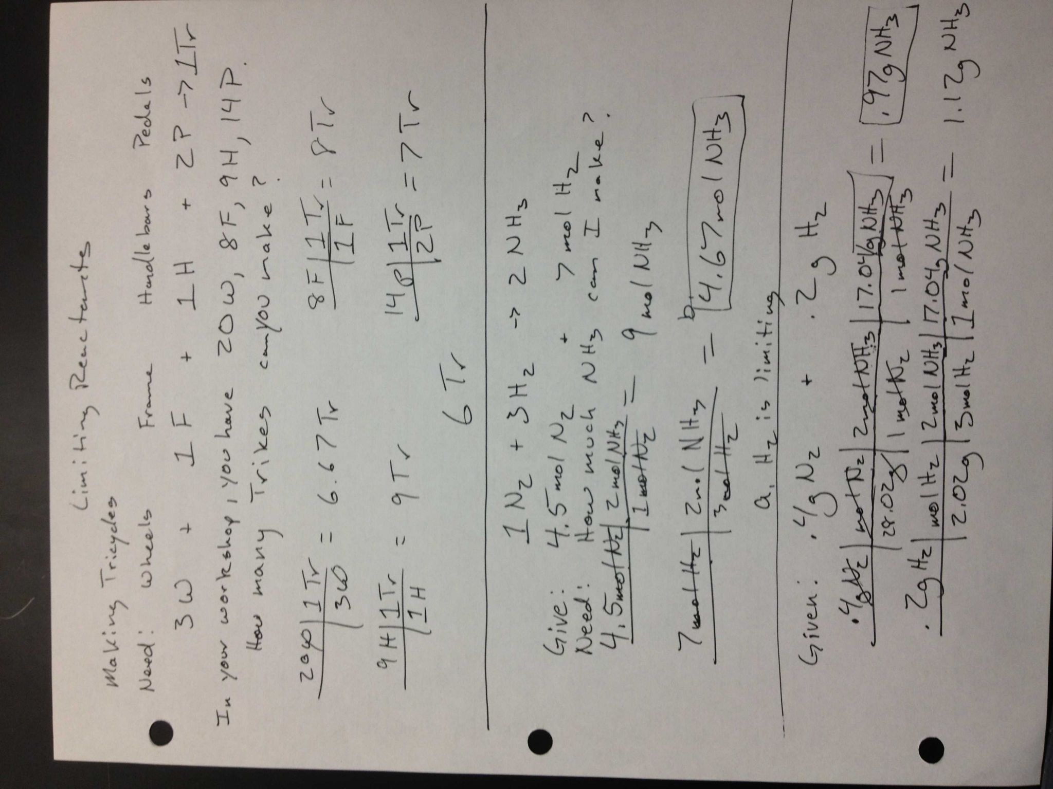 Ph and Poh Worksheet and Limiting Reactant Notes Jpg