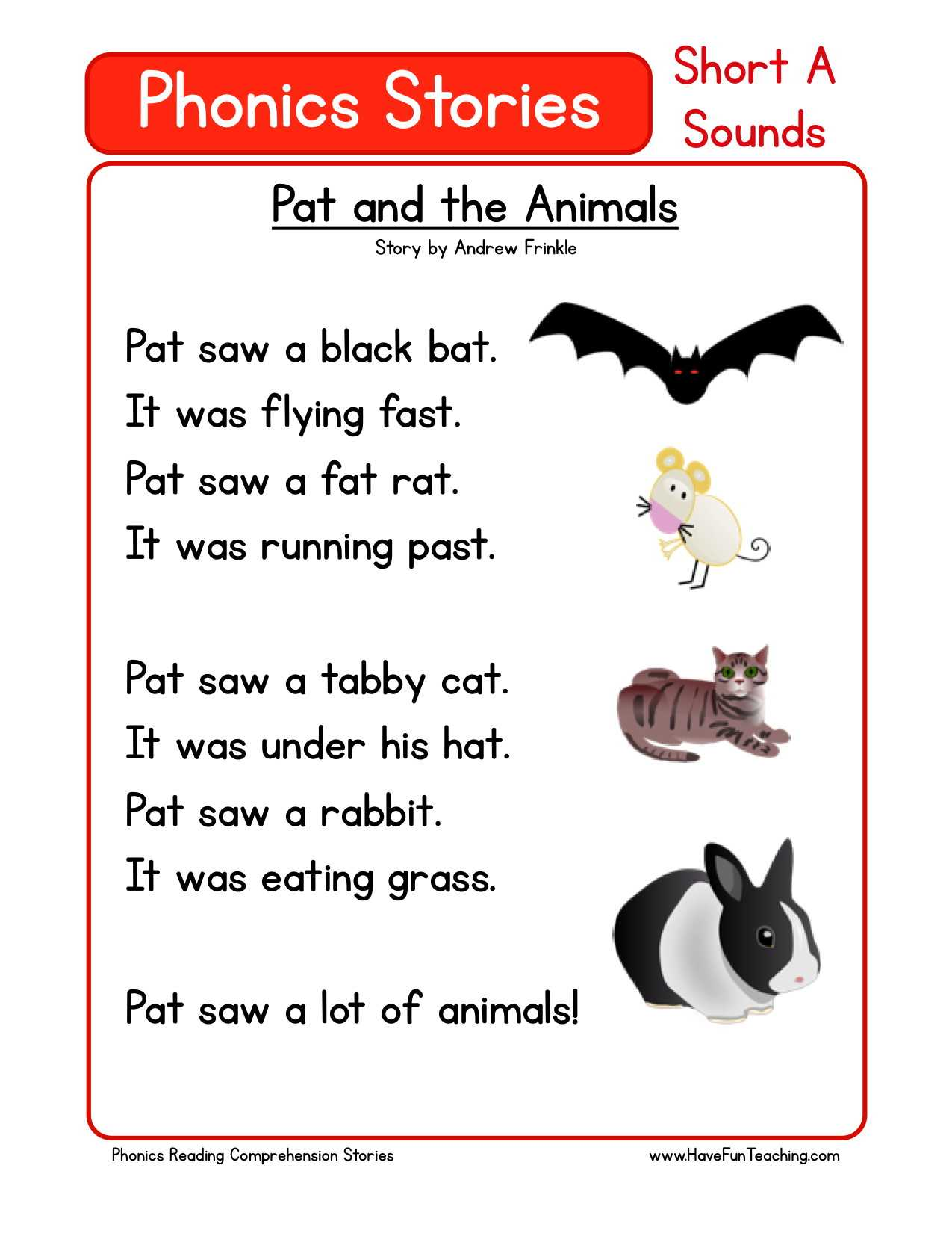 Phonics Worksheets Grade 1 With Jolly Phonics Word