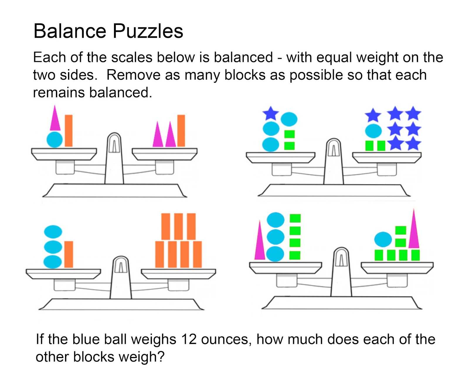 Rotations Practice Worksheet and 1001 Math Problems Balance Puzzles