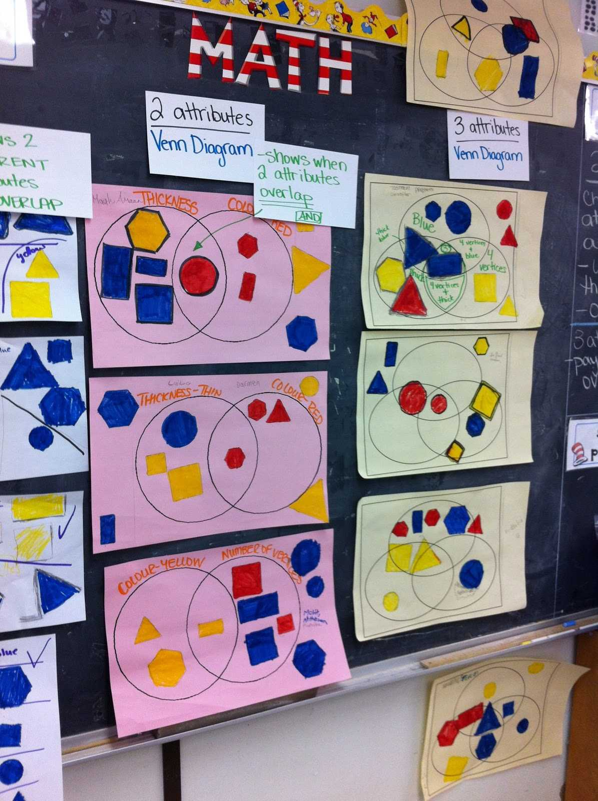 Shapes Worksheets for Preschool or Thinking Of Teaching sorting by Two and Three attributes