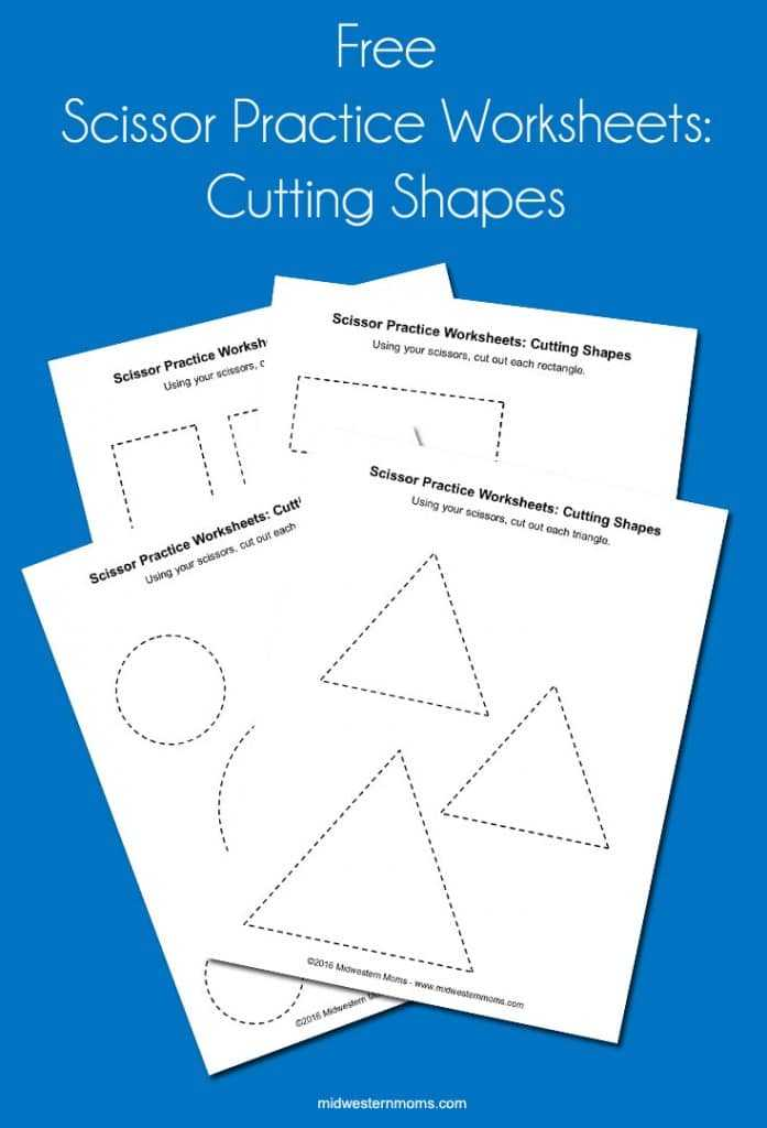 Shapes Worksheets for Preschool together with Scissor Practice Worksheets Cutting Shapes