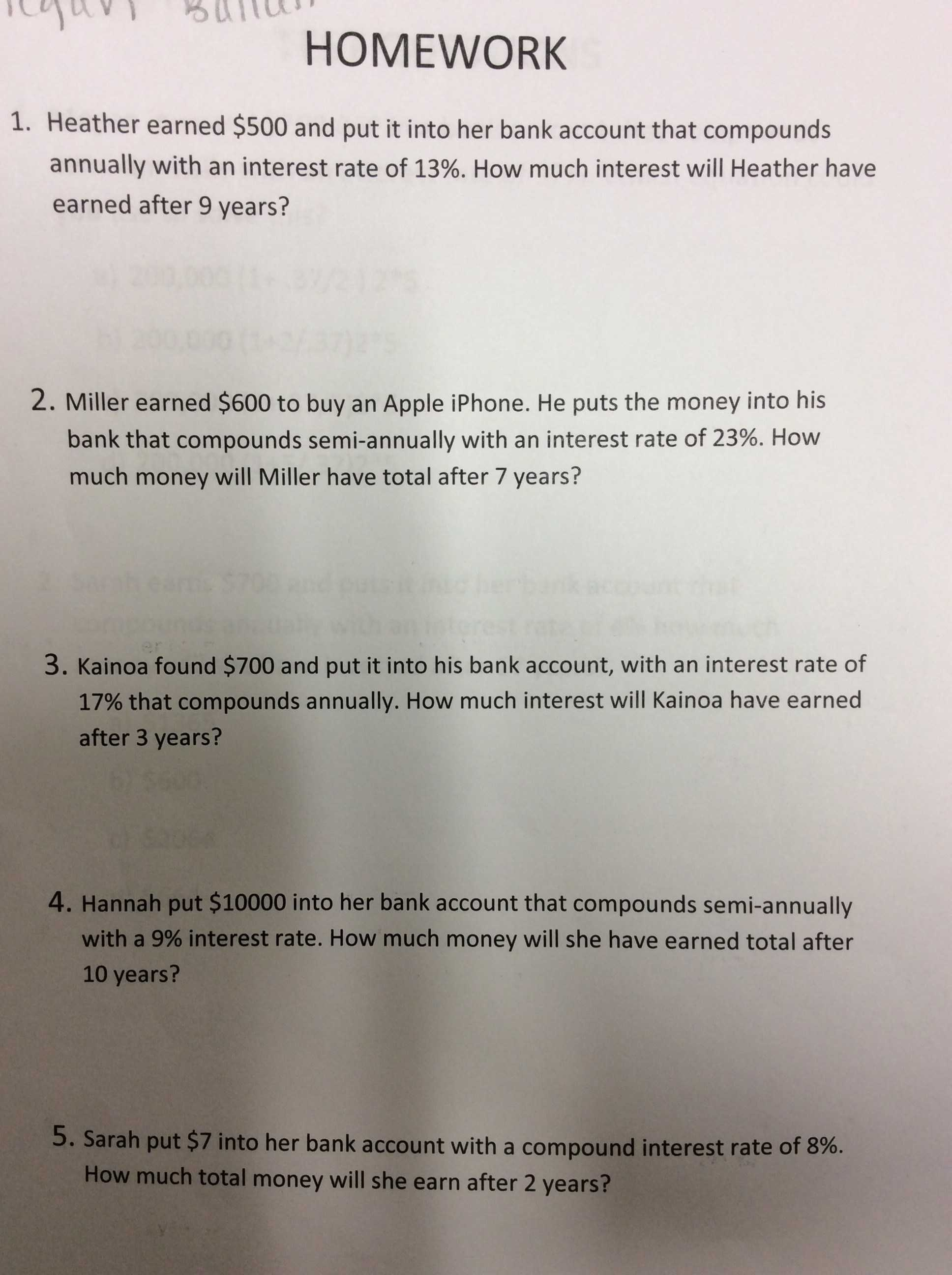 Simple and Compound Interest Practice Worksheet Answer Key Along with Gorzycki Middle School