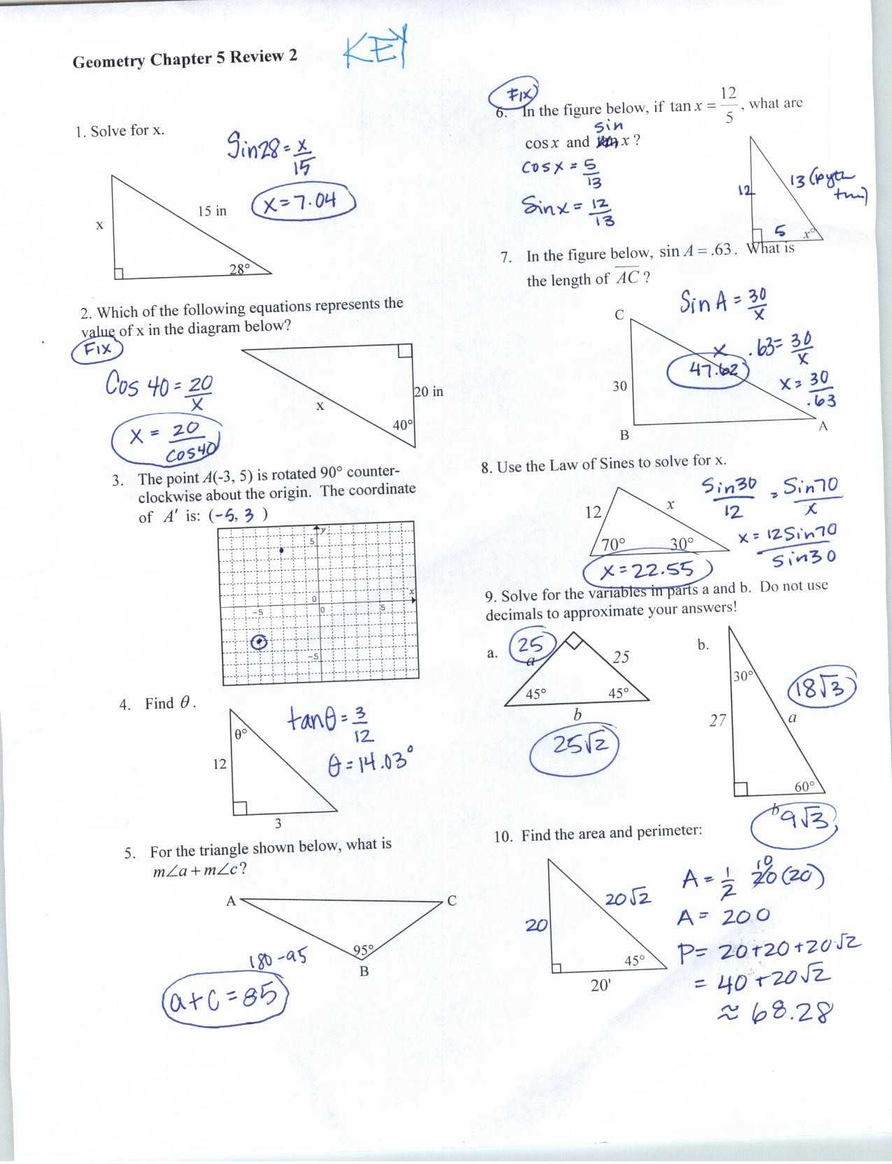 Special Right Triangles Worksheet Answer Key with Work or Special Right Triangles Worksheet Answers Best Trigonometry Icon