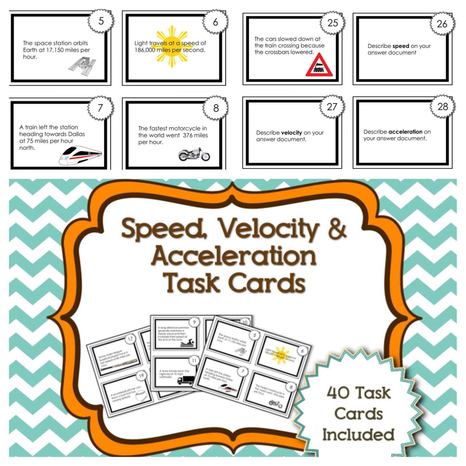 Speed Velocity And Acceleration Worksheet Answer Key As