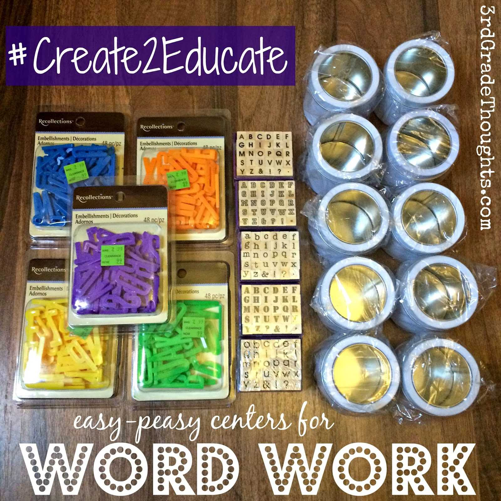 Spelling Worksheets for Grade 1 with Word Work Centers & A Class Sign Create2educate 3rd