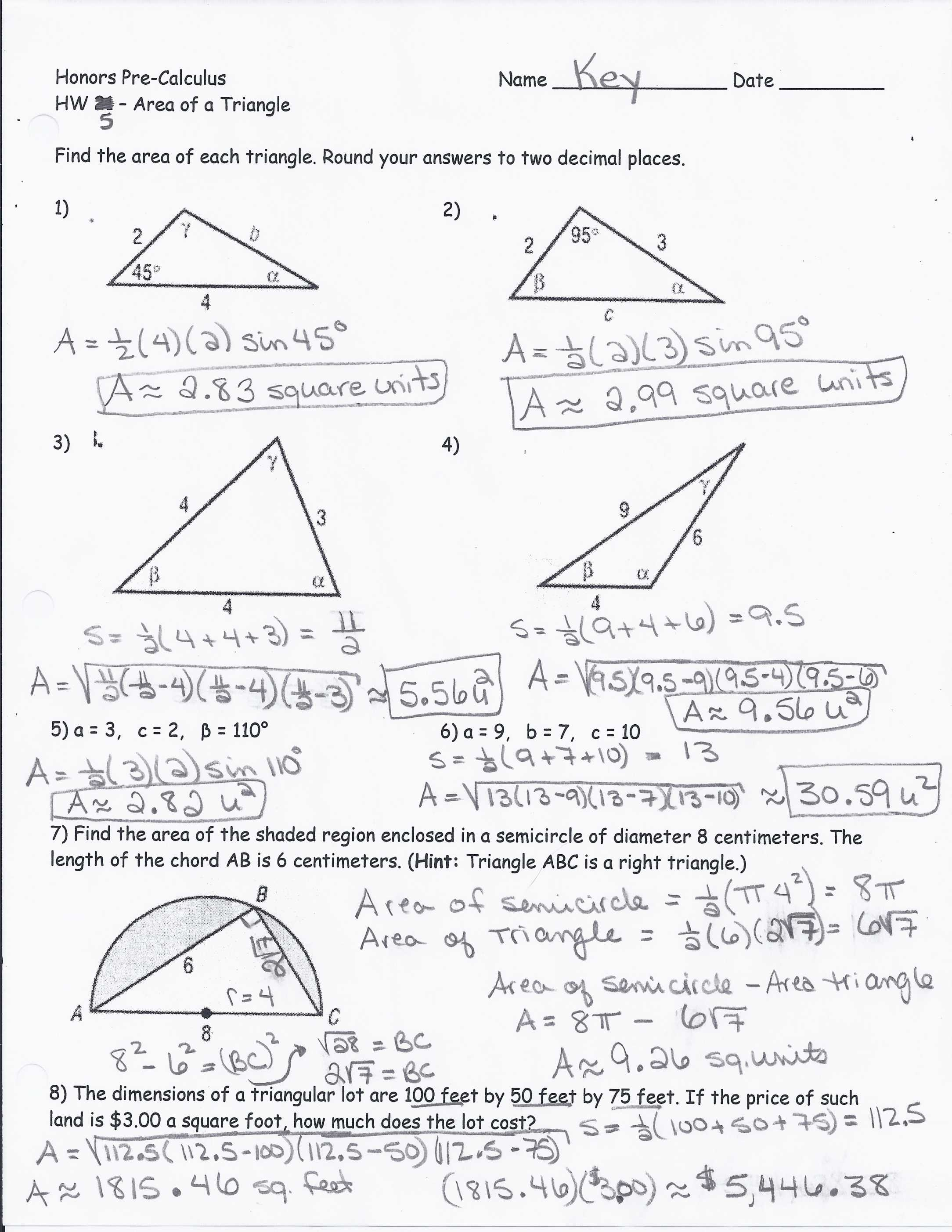Area Of Composite Figures Worksheet Answers With Volcanoes