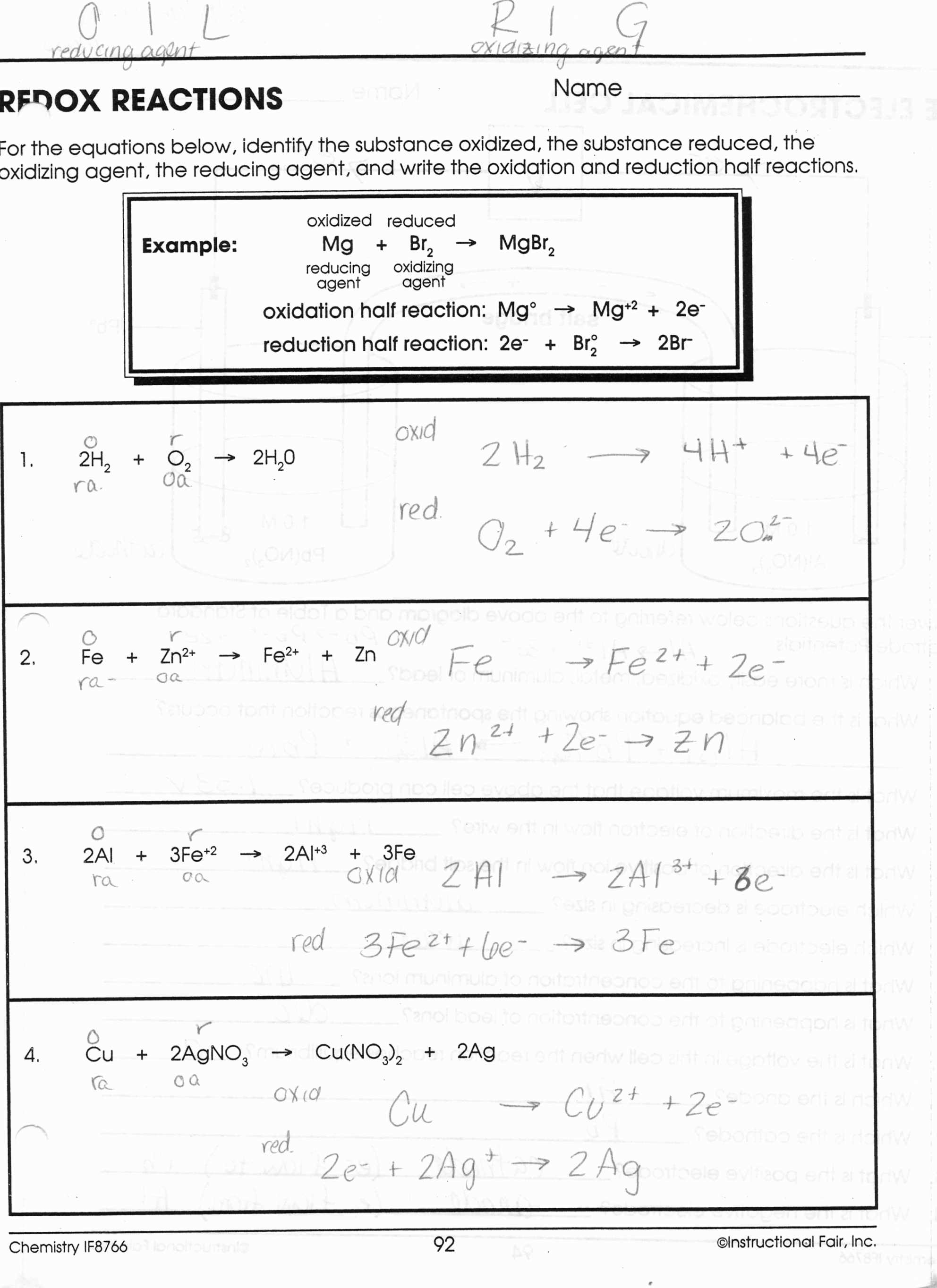 Types Of Chemical Reactions Worksheet Answers and Worksheet Types Chemical Bonds Worksheet Answers Design