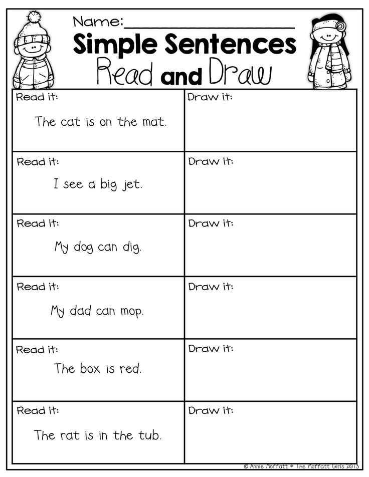 Writing Sentences Worksheets for 1st Grade Also 210 Best Cr Prehension Images On Pinterest
