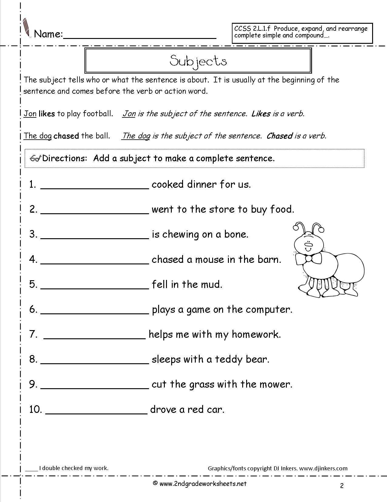 Writing Sentences Worksheets for 1st Grade and Scrambled Sentences Worksheets First Grade 1st Grade