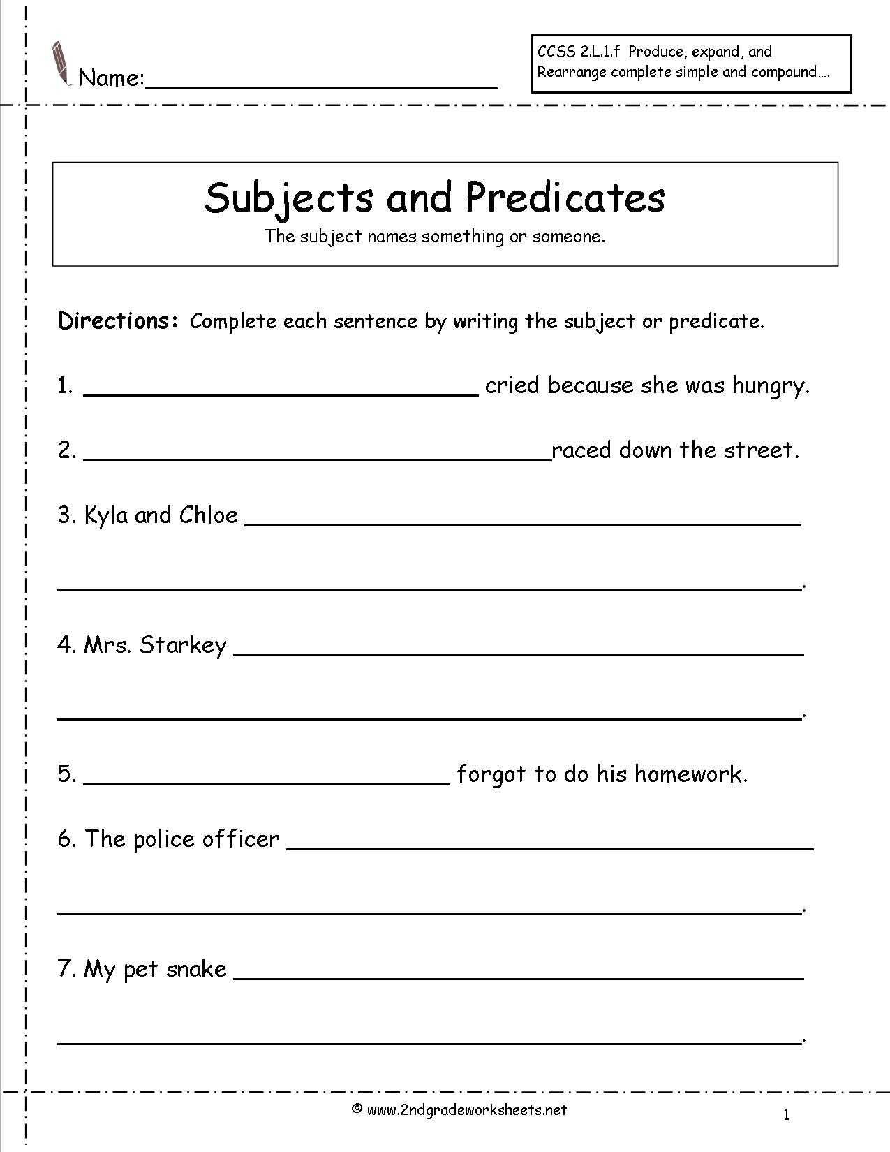 Writing Sentences Worksheets for 1st Grade together with 17 Best Of Simple Sentence Worksheets 6th Grade