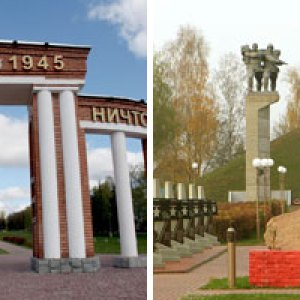semestafakta-Memorial in honor of the soldiers of the 1st  Belarusian Front and partisans