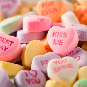 Candy Conversation Hearts for Valentine's Day
