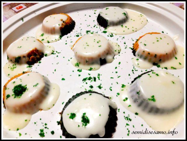 muffin di verdure bicolore
