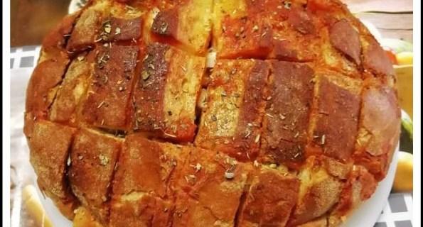 Pagnotta rustica alla pizzaiola 1