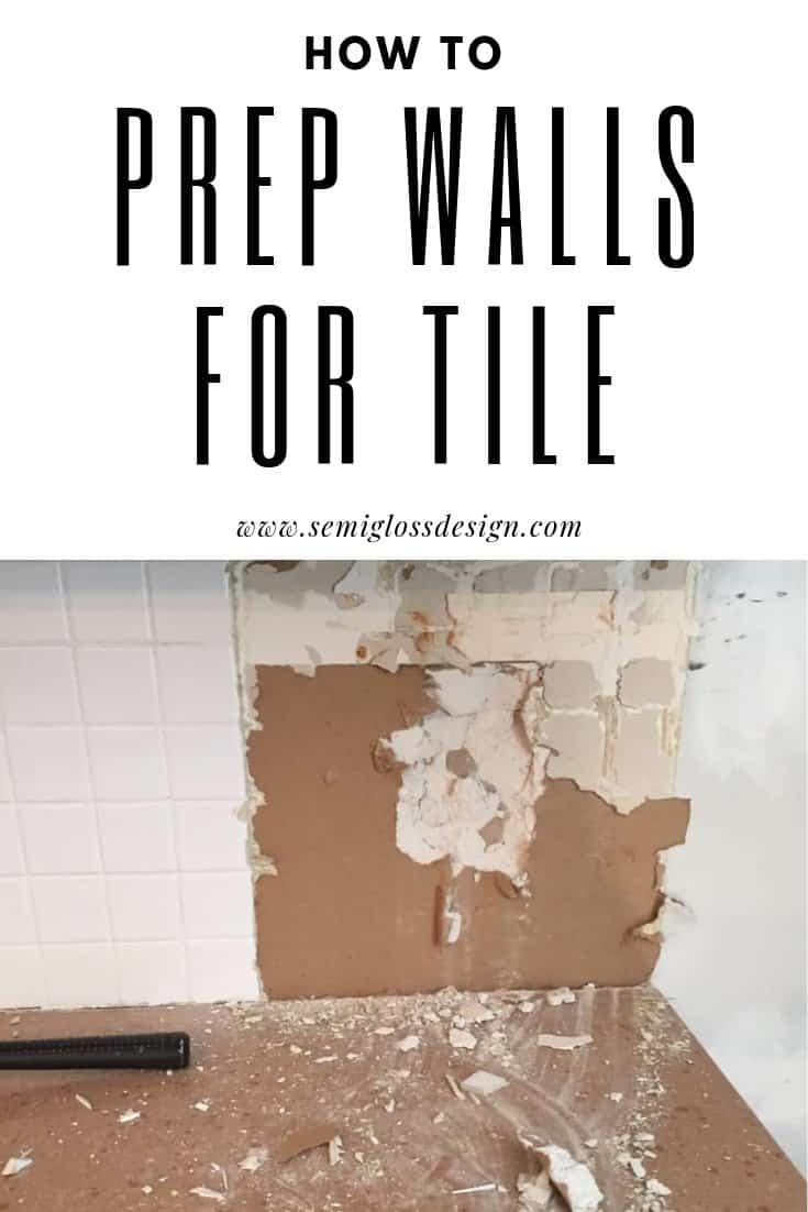 prep a wall for a tile backsplash