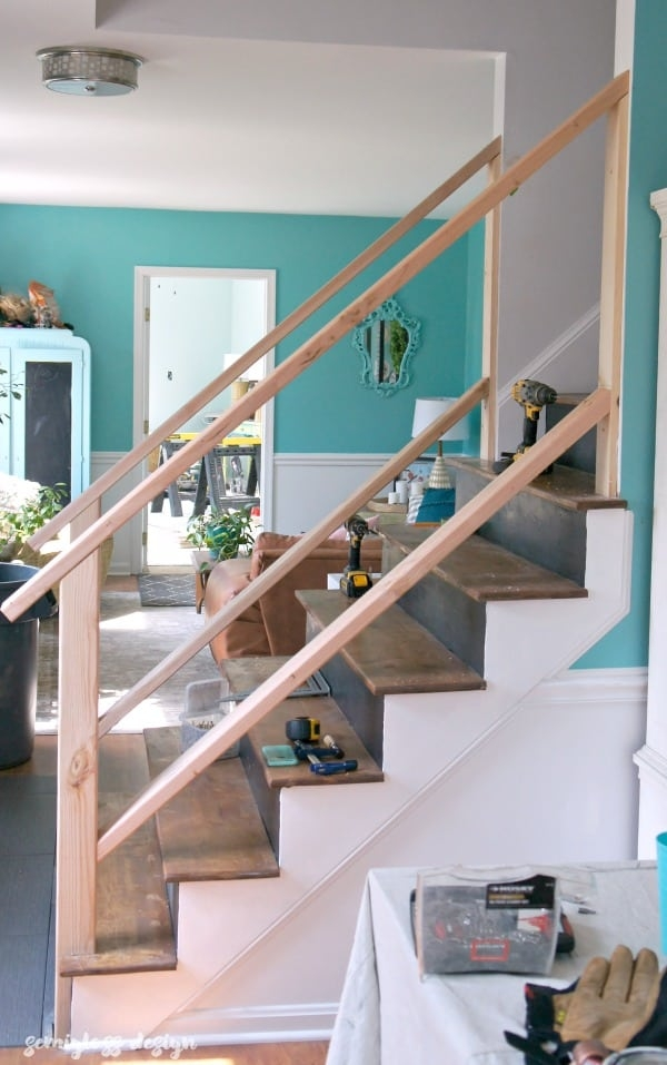 Must See Modern Diy Stair Railing Makeover Tutorial | Diy Handrails For Exterior Stairs