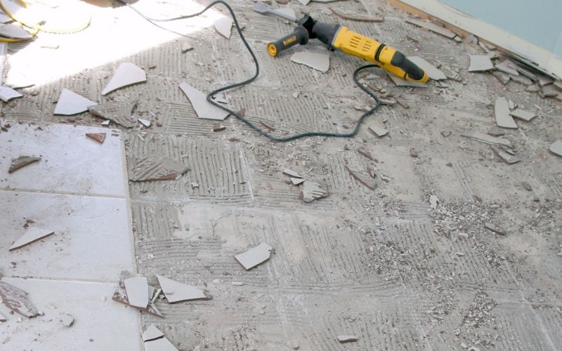 tips on how to remove a tile floor