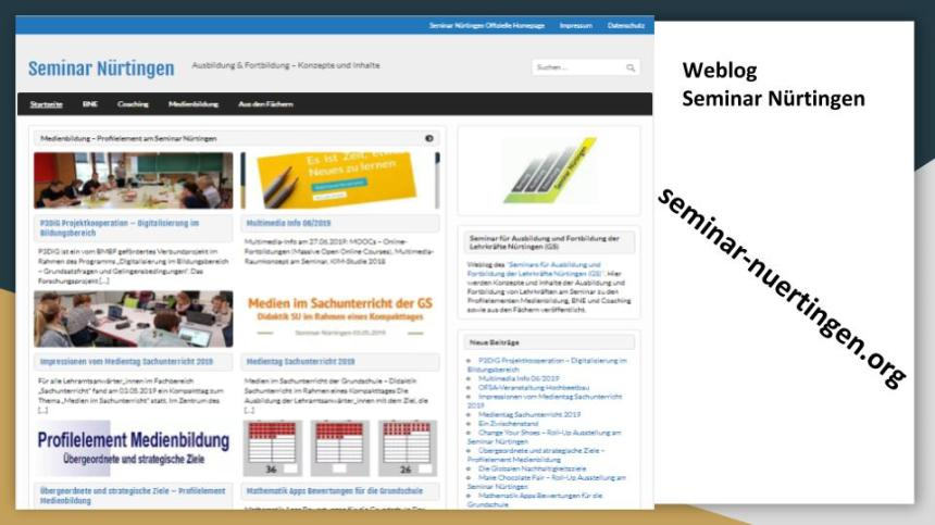 Weblog Seminar Nürtingen