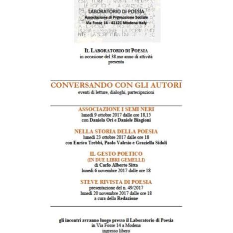Gabriele Sorrentino intervistato da Michele Fuoco per La Gazzetta di Modena