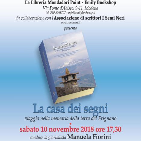 """2018.11.03 – """"La casa dei segni"""" alla Libreria La Fenice, Carpi (Mo)"""