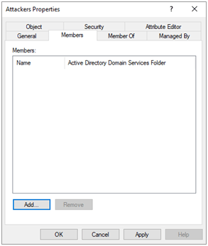 Active Directory membership from the group side