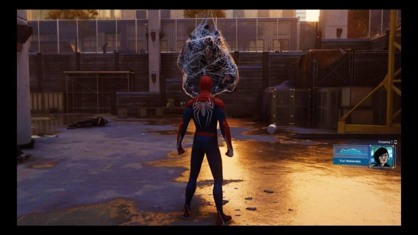 Flaques d'eau Spider-Man PS4