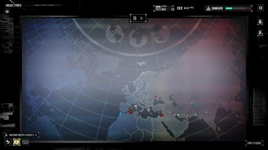 Phantom Doctrine PC carte du monde