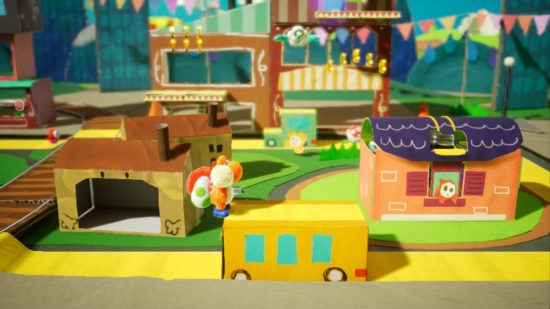 Yoshi's Crafted World village