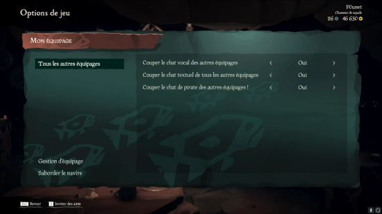 Sea of Thieves communications