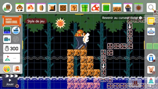 Super Mario Maker 2 construction
