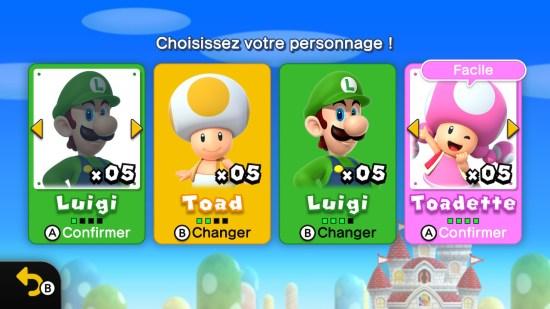 New Super Mario Bros U Deluxe personnages