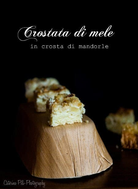 Crostata di mele in crosta di mandorle