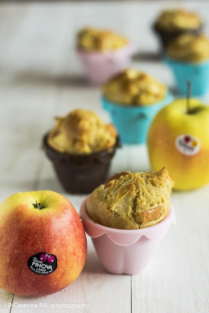 Muffin alle mele gialle e rosse Val Venosta | ricetta light senza burro