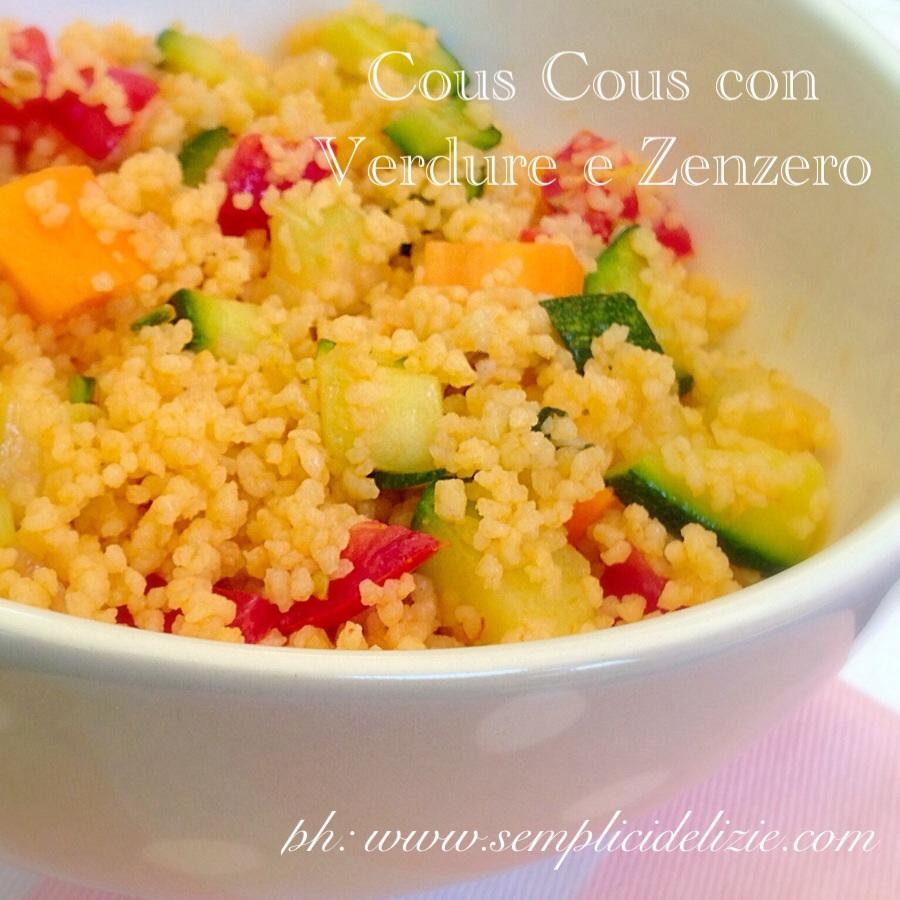 Cous Cous con Verdure e Zenzero