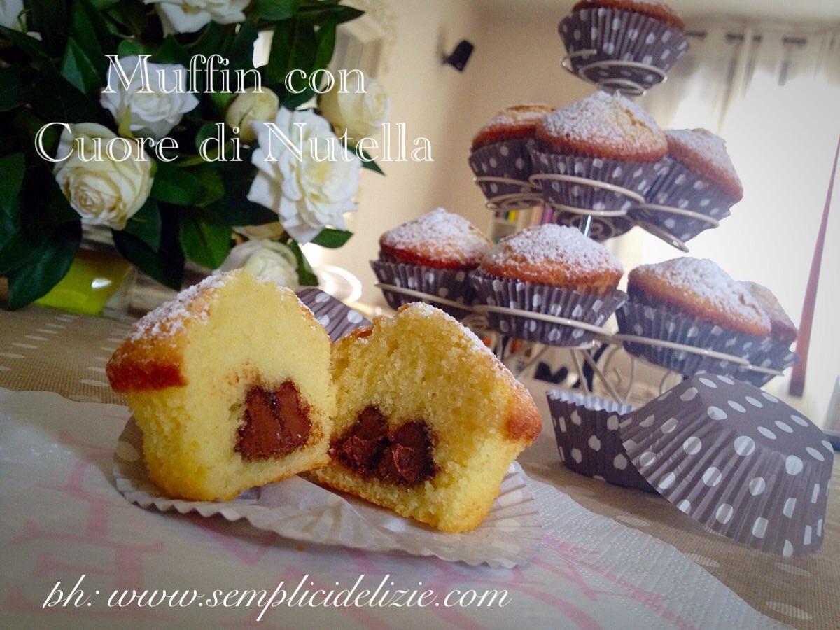Muffin con Cuore di Nutella ❤️