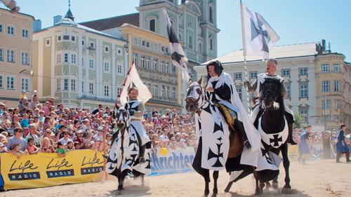 OÖ Familien_Ritterfest Linz_Reitturnier