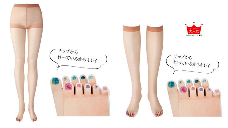 In Giappone prendono piede le calze con lo smalto