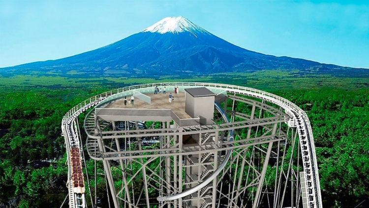 Il parco Fuji-Q sta costruendo un ponte panoramico